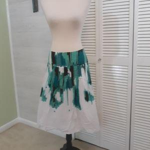 Johnpaulrichard tie dyed pleated skirt  small *L